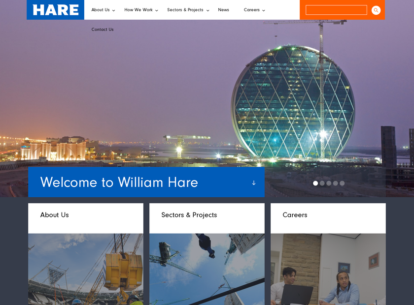 William Hare Group Limited homepage screenshot