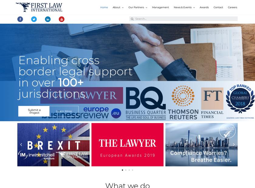 First Law International homepage screenshot