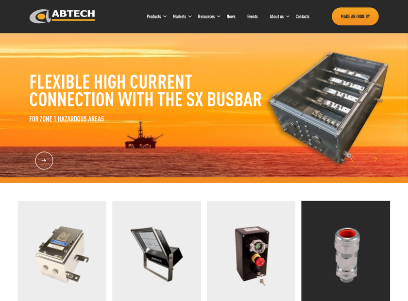 Abtech Limited homepage screenshot