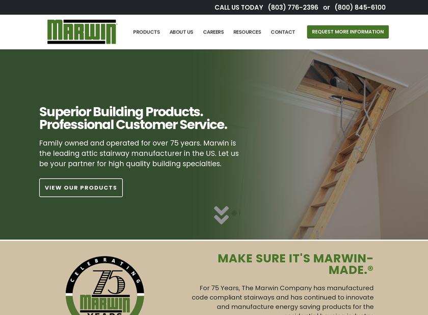 The Marwin Company Inc homepage screenshot