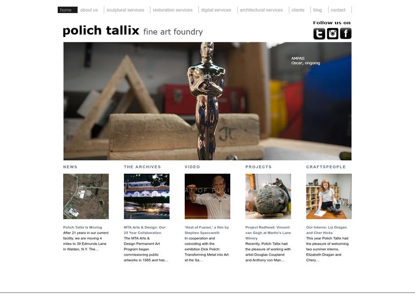Polich Tallix llc homepage screenshot