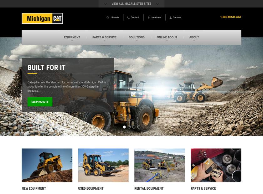 Michigan CAT homepage screenshot