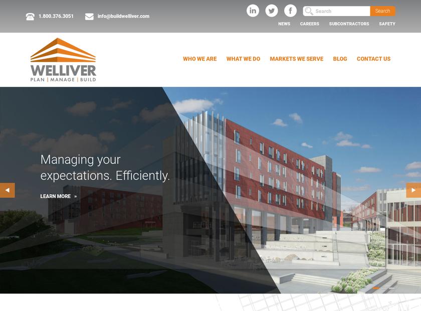 Welliver McGuire Inc. homepage screenshot