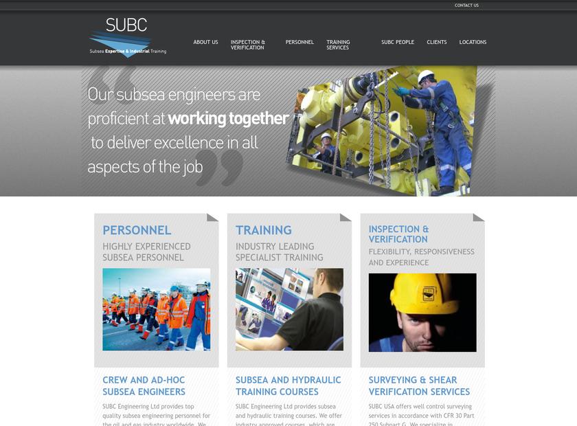 SUBC Engineering Ltd homepage screenshot