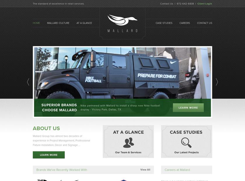 Mallard Group homepage screenshot