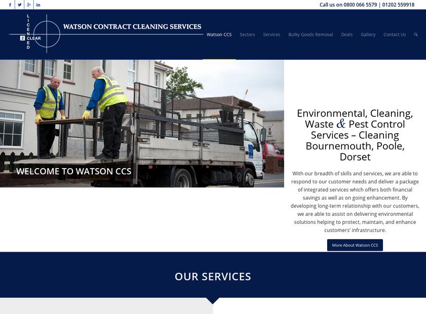 Watson CCS Ltd homepage screenshot