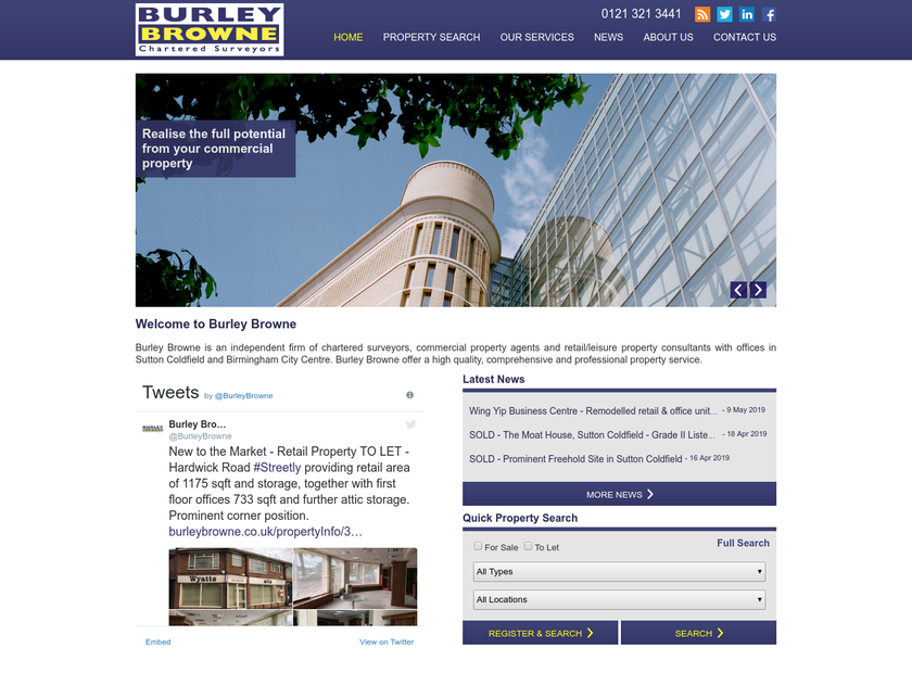 Burley Browne Ltd homepage screenshot
