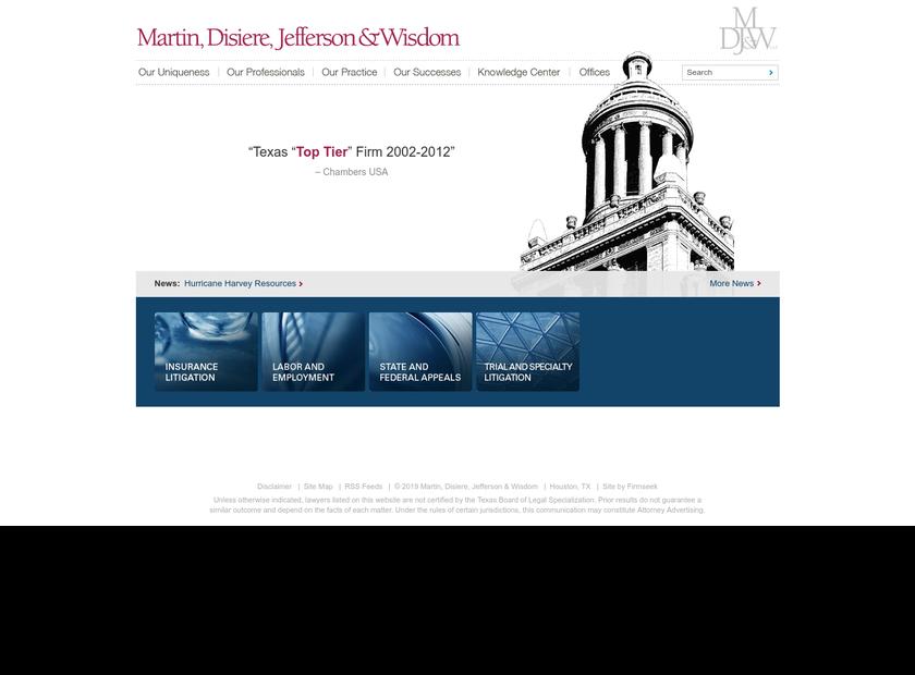 Martin Disiere Jefferson & Wisdom L.L.P homepage screenshot