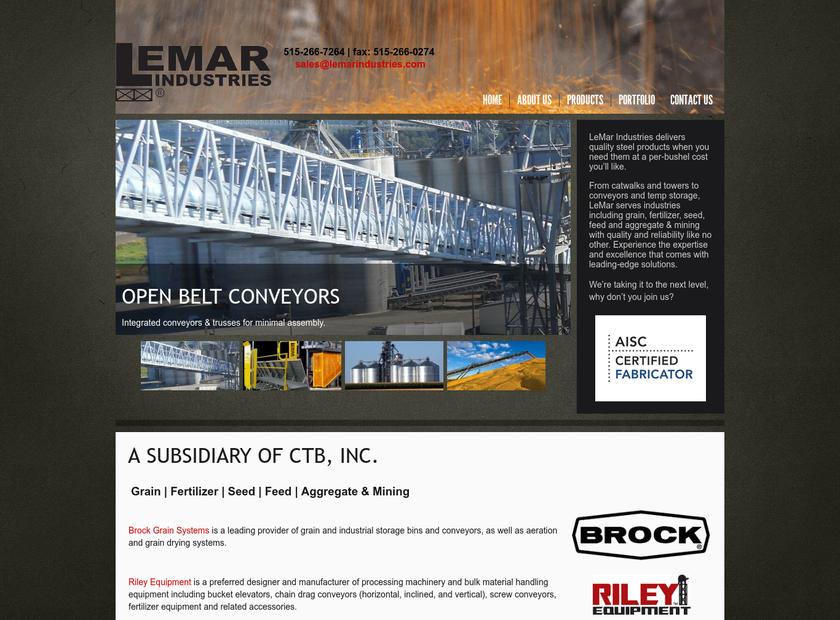 LeMar Industries Corp homepage screenshot