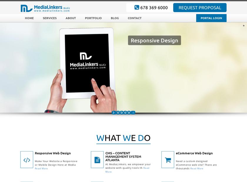 MediaLinkers LLC homepage screenshot
