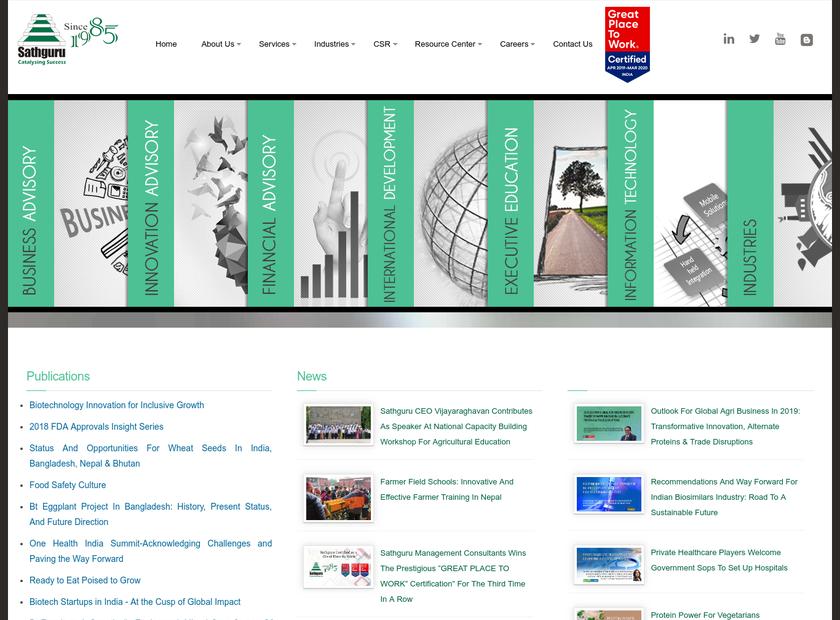 Sathguru Inc homepage screenshot