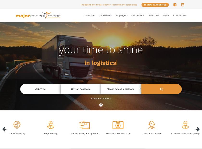 Major Recruitment Ltd homepage screenshot