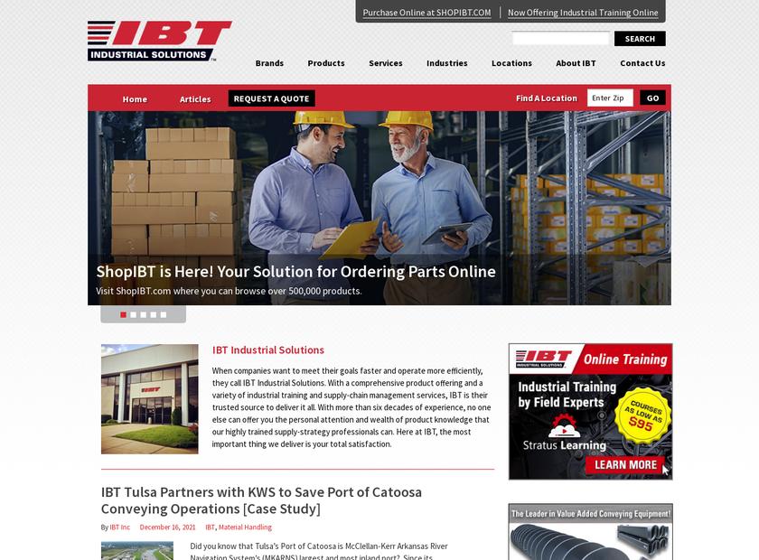 IBT Inc homepage screenshot