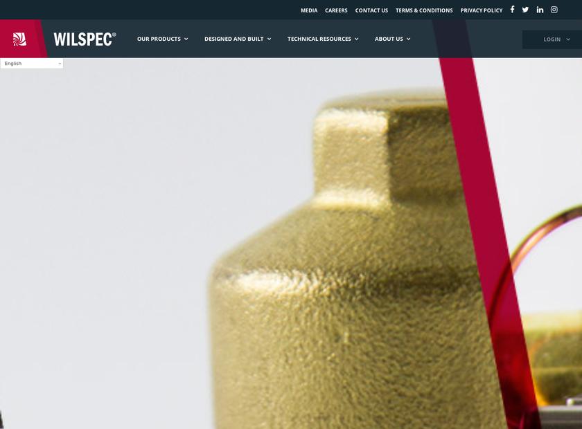 Wilspec Technologies Inc homepage screenshot