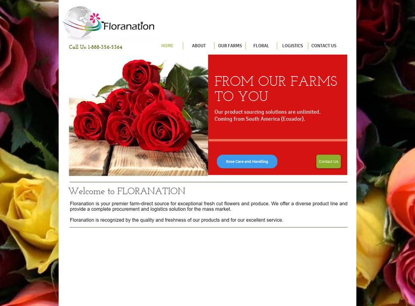 Floranation LLC homepage screenshot