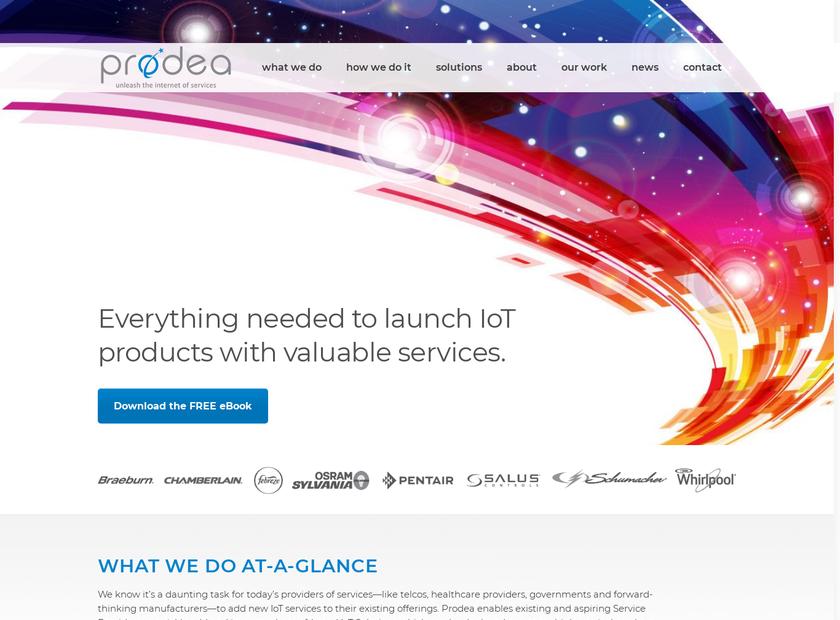 Prodea homepage screenshot