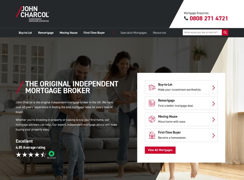 John Charcol Limited homepage screenshot