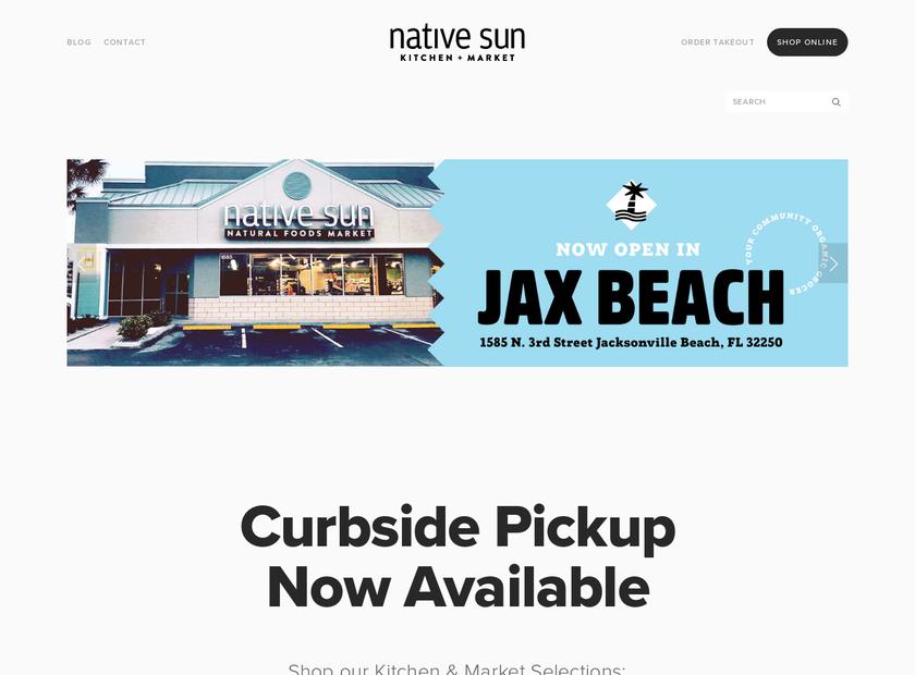 Native Sun Natural Foods Market homepage screenshot
