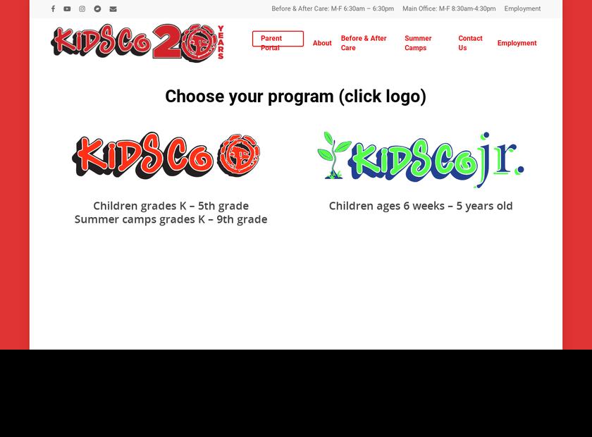 KidsCo Inc homepage screenshot