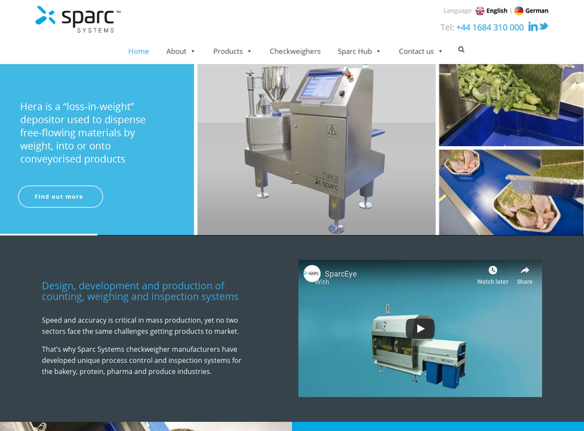 SPARC SYSTEMS LTD homepage screenshot