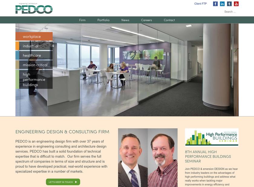 PEDCO E&A Services Inc homepage screenshot