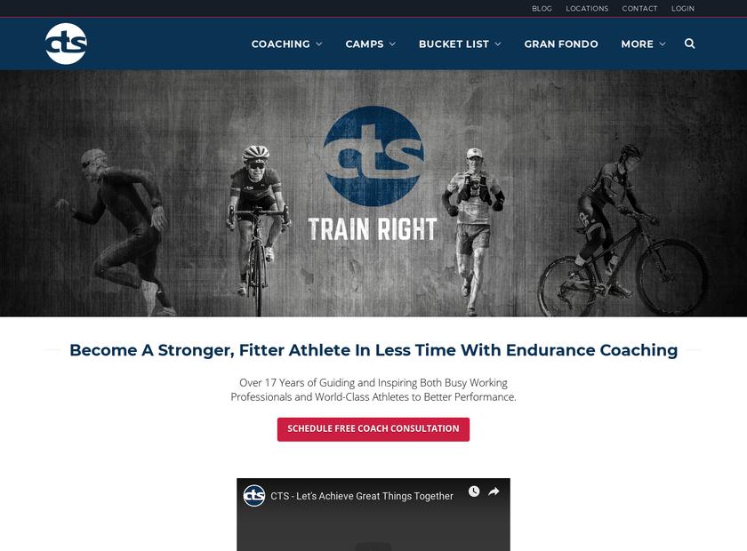 Carmichael Training Systems Inc homepage screenshot