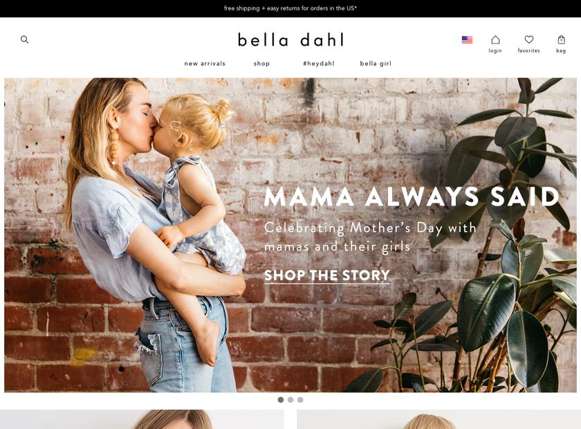 Bella Dahl homepage screenshot