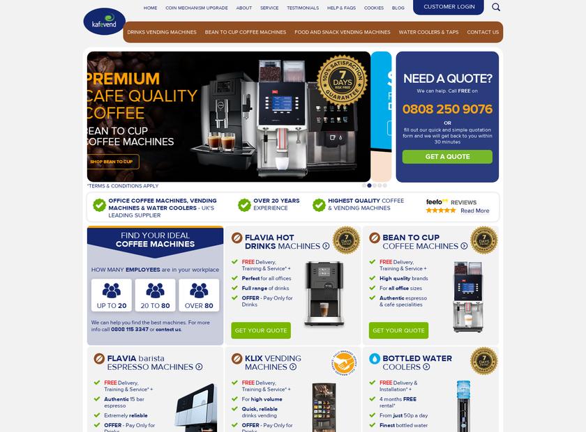 Kafevend homepage screenshot