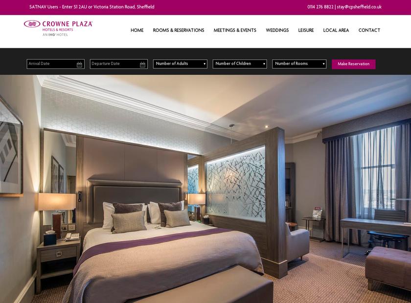 Holiday Inn Royal Victoria Sheffield homepage screenshot