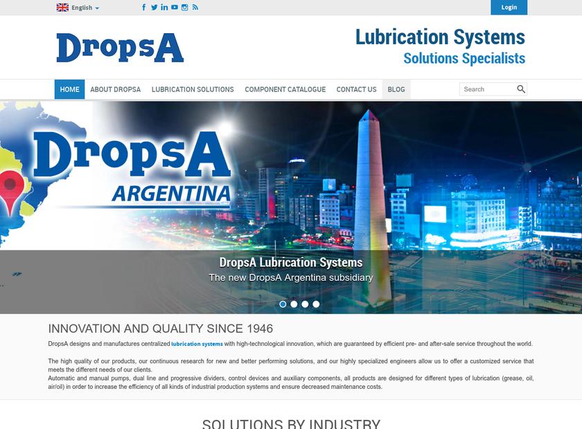 DropsA USA Inc homepage screenshot
