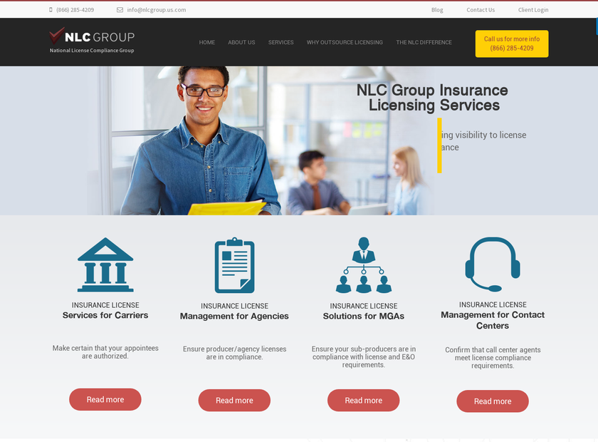 National License Compliance Group (NLC Group) homepage screenshot