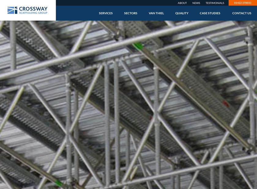 Crossway Scaffolding Ltd homepage screenshot