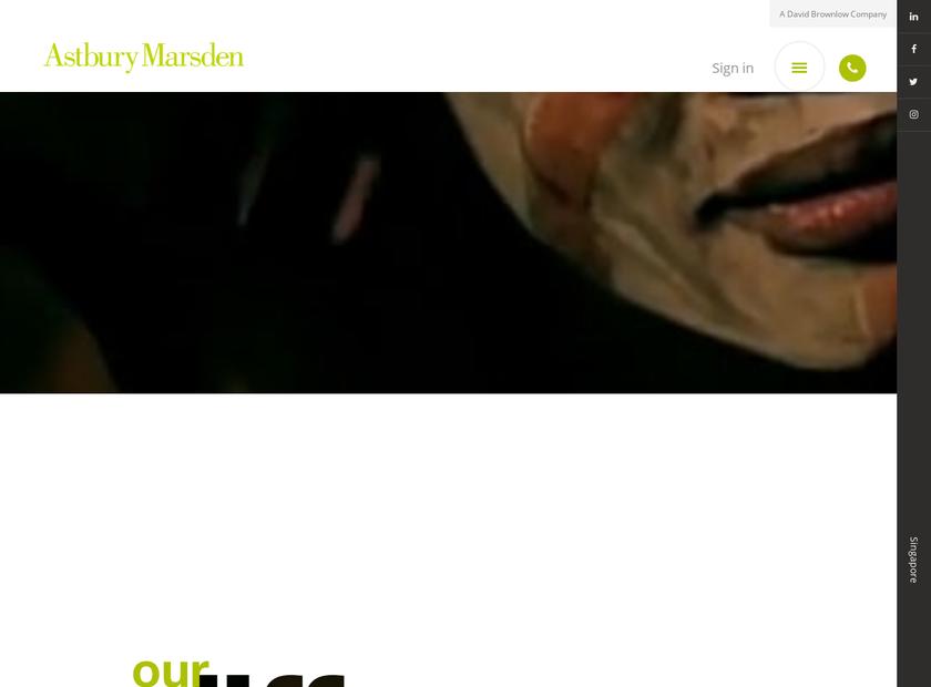 Astbury Marsden homepage screenshot