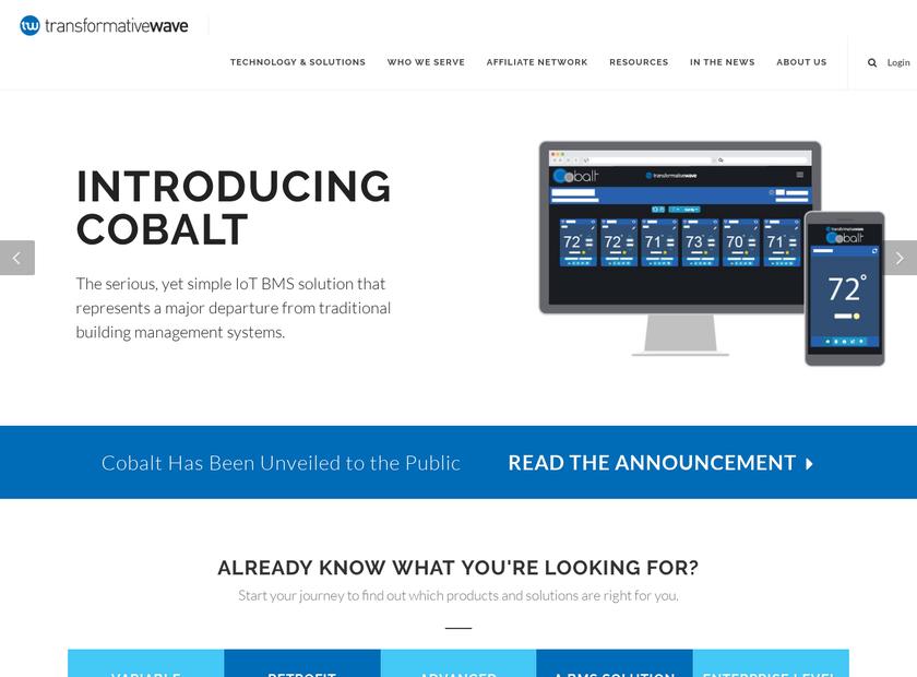 Transformative Wave homepage screenshot