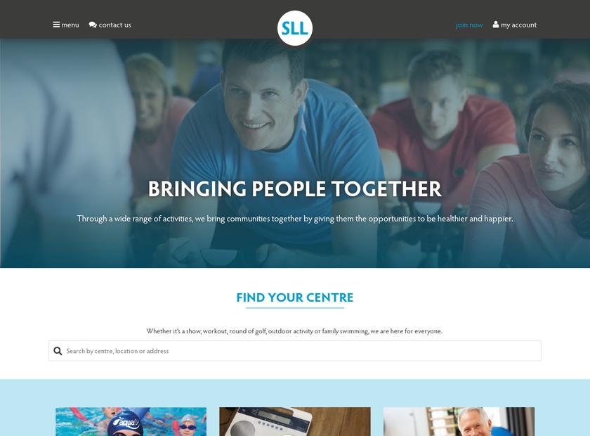 Stevenage Leisure Limited homepage screenshot