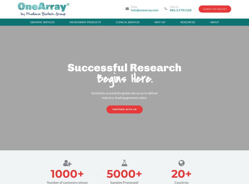 Phalanx Biotech Group Inc homepage screenshot