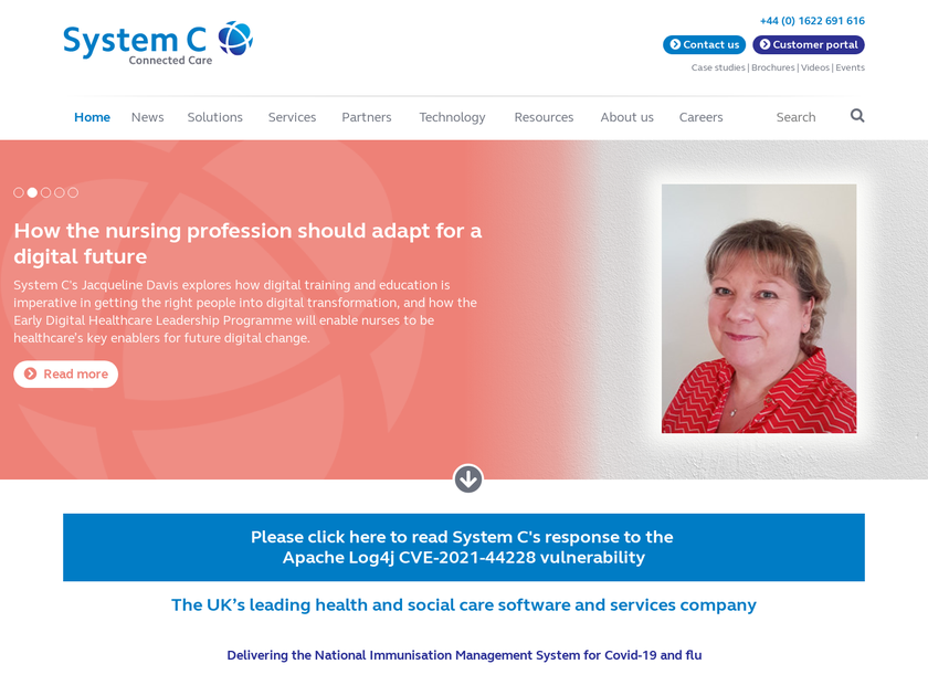 System C Healthcare plc homepage screenshot