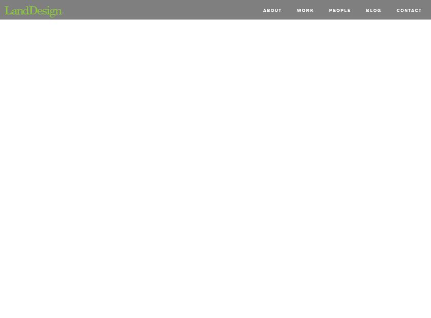 LandDesign , Inc. homepage screenshot