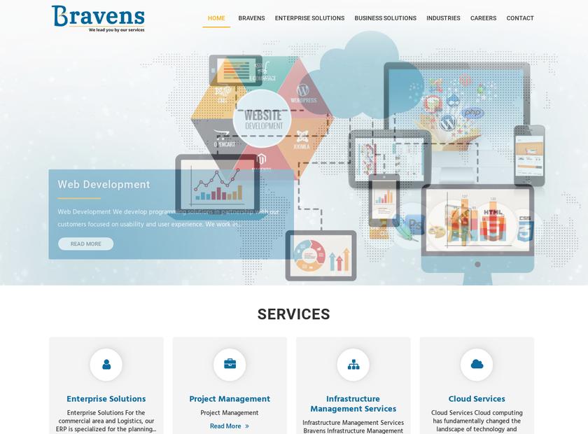 Bravens Inc homepage screenshot