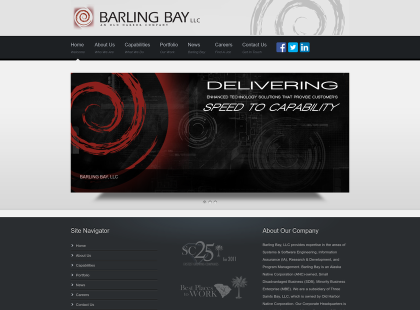 Barling Bay LLC homepage screenshot