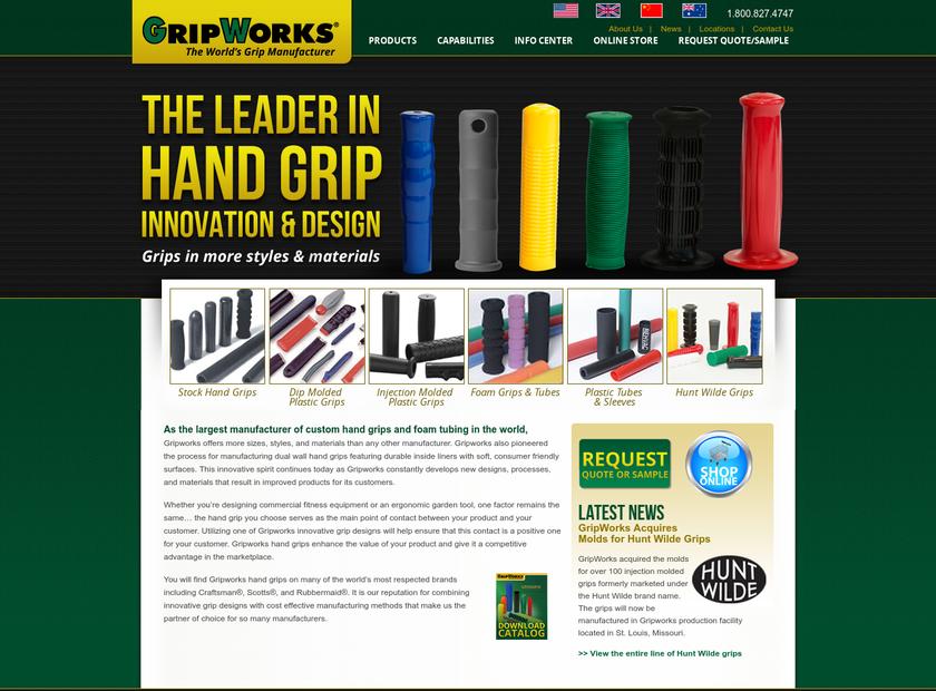 GripWorks homepage screenshot