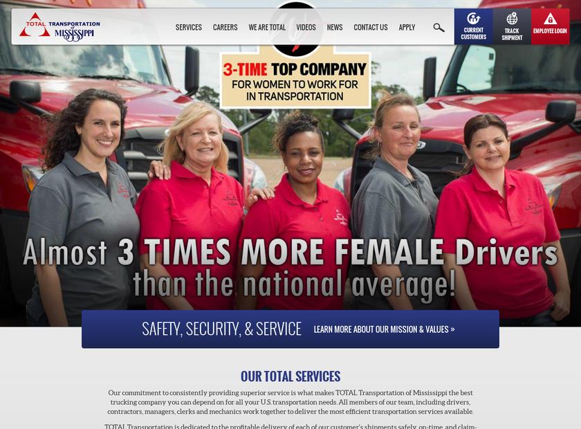Total Transportation homepage screenshot
