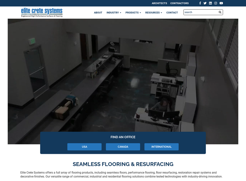 Elite Crete Systems Inc homepage screenshot