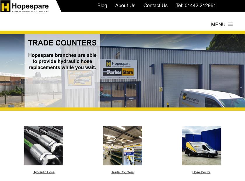Hopespare Ltd homepage screenshot