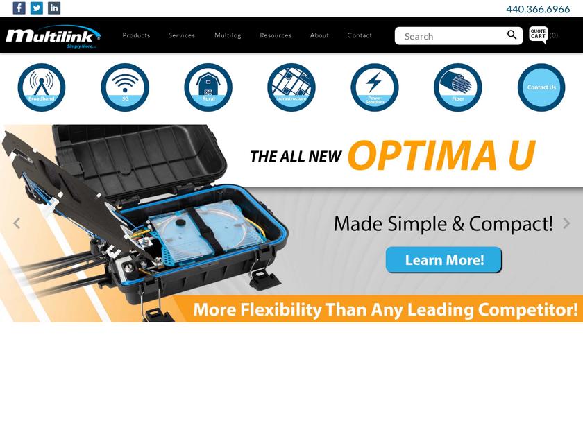 Multilink Inc homepage screenshot