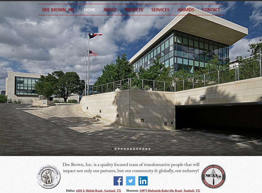 Dee Brown , Inc. homepage screenshot