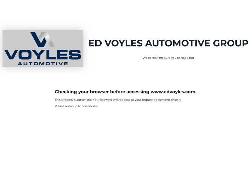 Ed Voyles Automotive Group homepage screenshot