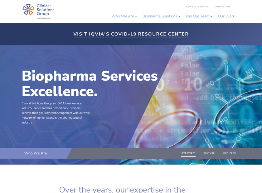Clinical Solutions Group Inc homepage screenshot
