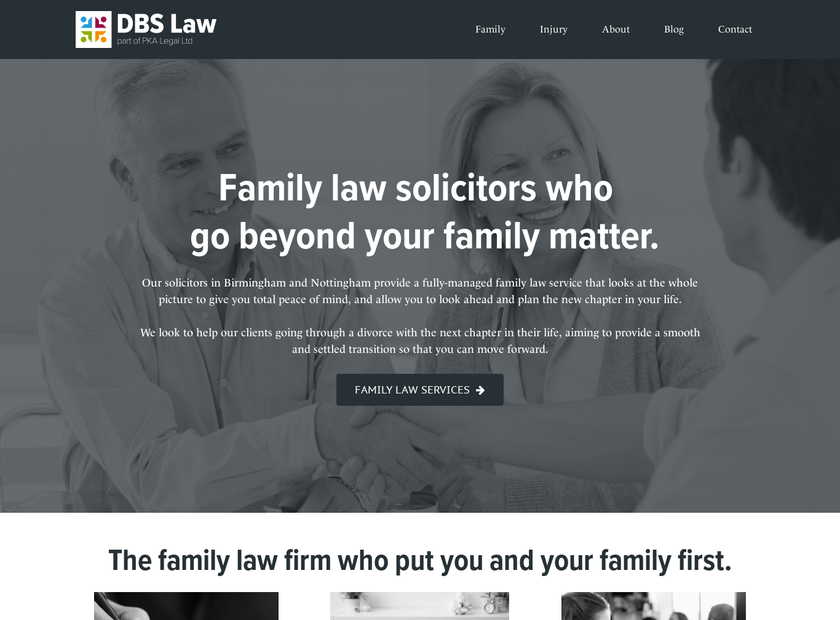 DBS Law Limited homepage screenshot