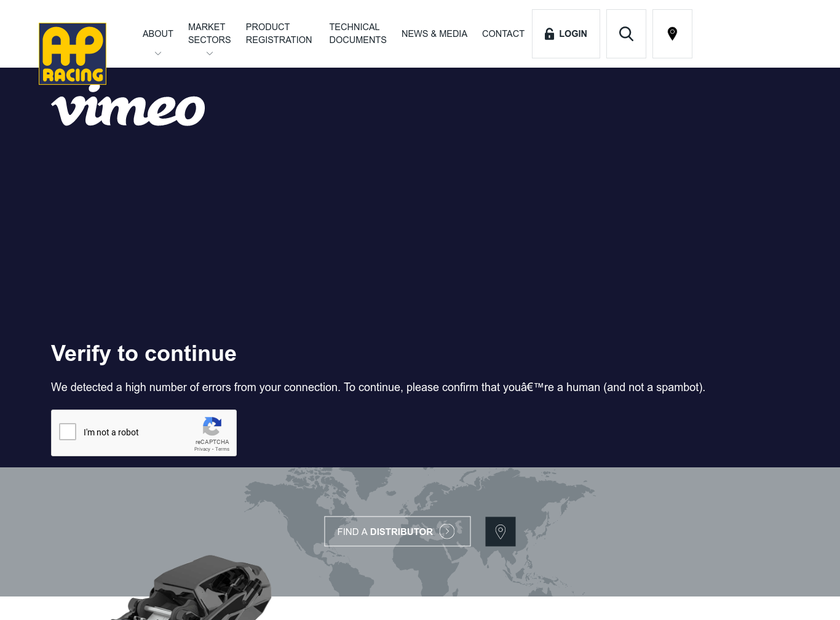 AP Racing Ltd homepage screenshot